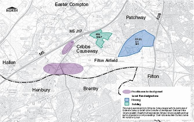 Cribbs Causeway Map Bristol: Cribbs Causeway